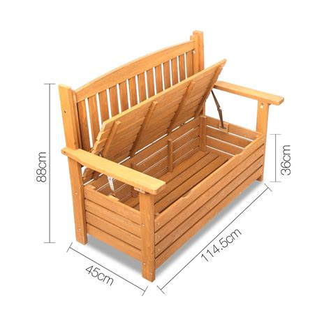 wooden storage bench outdoor buy wooden outdoor storage bench online at ikoala com au
