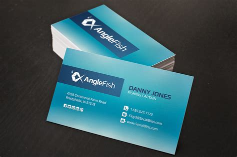 Fish Business Card Template Free by Fishing Charter Business Cards Business Card Templates