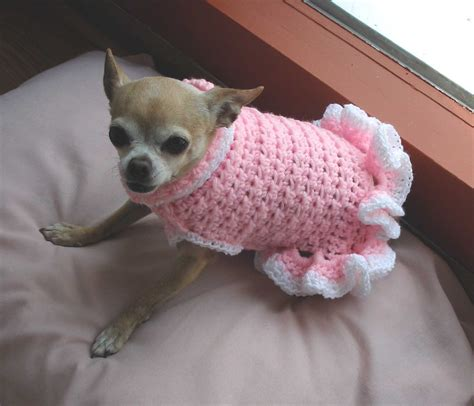 crochet pattern dog jumper pdf crochet pattern cha cha dog sweater dress by ozarknomad