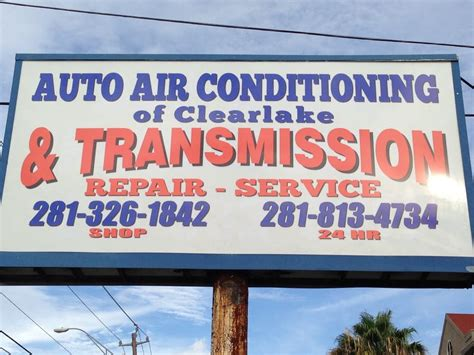 auto air conditioning  clearlake transmission repair