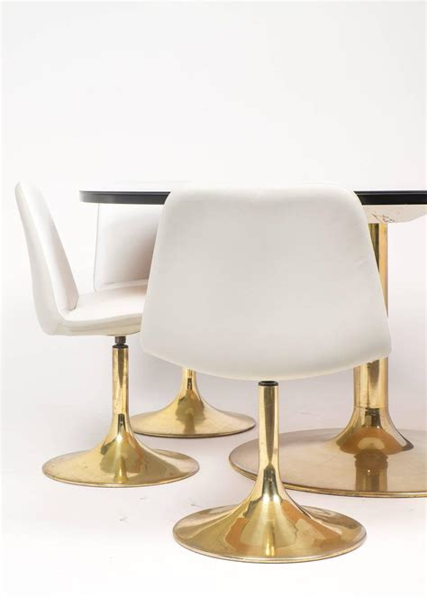 Tulip Table And Chairs by Tulip Table And Chair Dining Set At 1stdibs