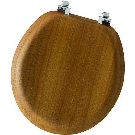 oak toilet seat bemis 9601cp 378 oak wood toilet seat with chrome