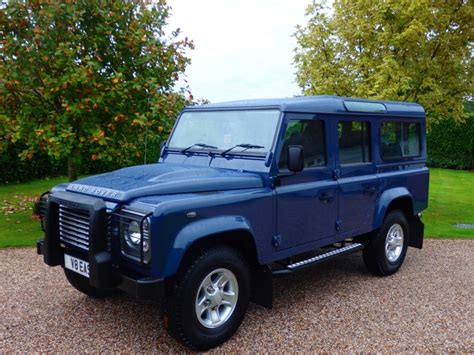 blue land rover used tamar blue land rover defender for sale essex