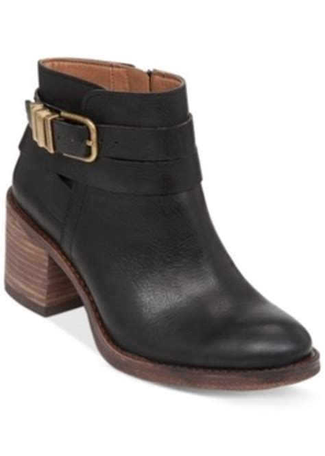 lucky brand lucky brand womens raisa block heel booties
