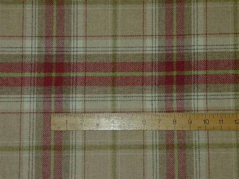 Tartan Plaid Upholstery Fabric by Wool Tartan Plaid Beige Check Fabric Curtain