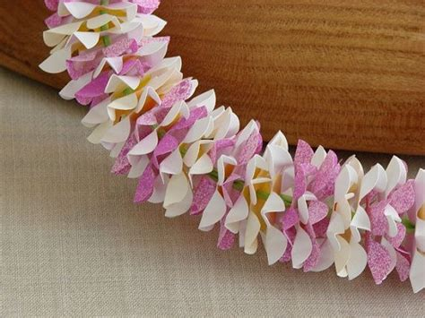 How To Make Paper Flower Leis - blush paper flower white and magenta by lundinleis on