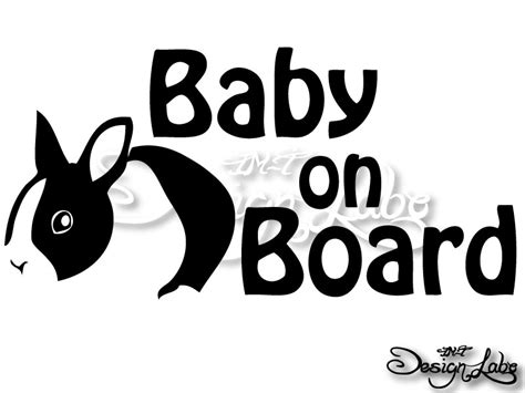 Stiker Cutting Baby On Board im trading rakuten ichiba shop rakuten global market the baby on board rabbit design cutting