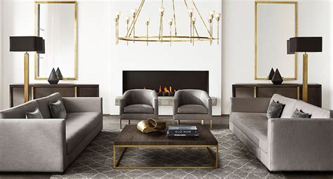 interiors modern home furniture new brass furniture and decor from rh modern