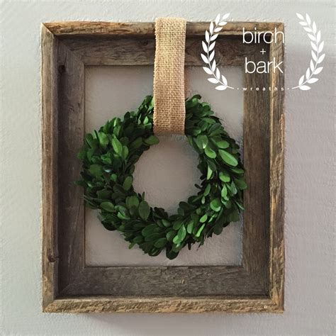 home decor preserved boxwood wreath wood frame wreath