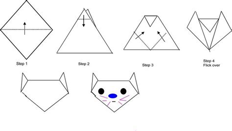 How To Fold An Origami Cat - origami cat can be use for theme such as animal