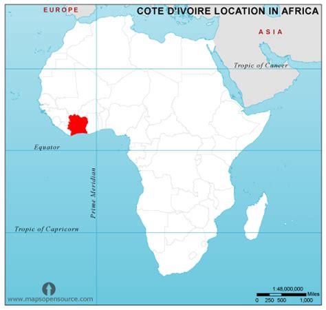 ivory coast on the map free ivory coast location map in africa ivory coast