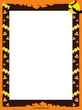 free printable halloween borders invitations bats and candy corn halloween border