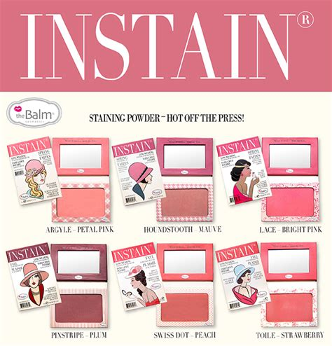 Thebalm Instain ami s magic box review thebalm instain wearing powder blushes lou manizer