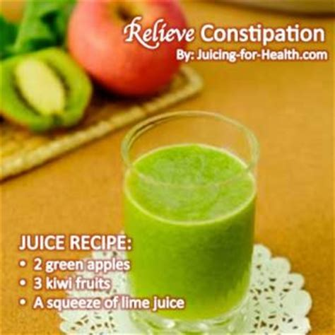 Detox Juice Recipes For Constipation relieve constipation