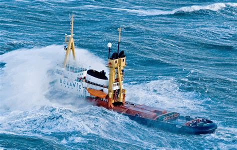 tugboat gif oceanic tug in heavy weather before conversion by icon