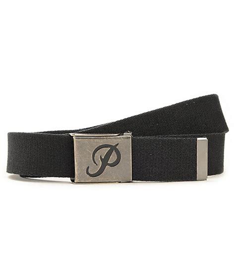 Belt Import Blink primitive classic p black web belt zumiez