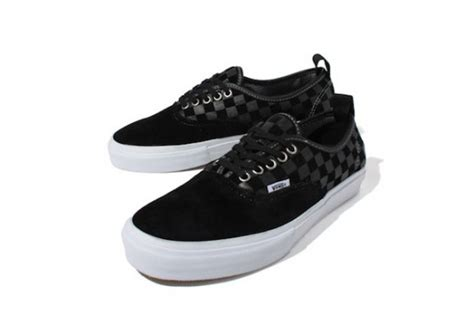 black pattern vans vans syndicate checked toned pattern suede authentic 69