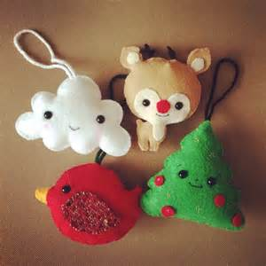felt cute christmas ornaments