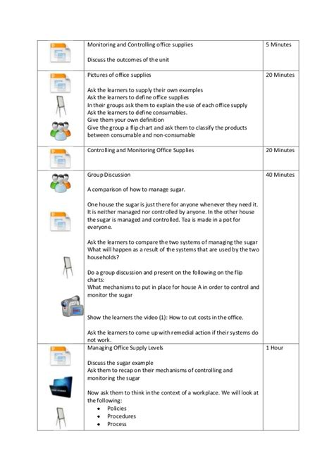 facilitation plan template facilitator guide for a business administration session