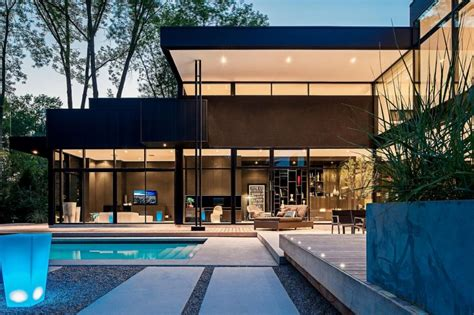 modern glass house 2 storey modern home in ontario canada most beautiful