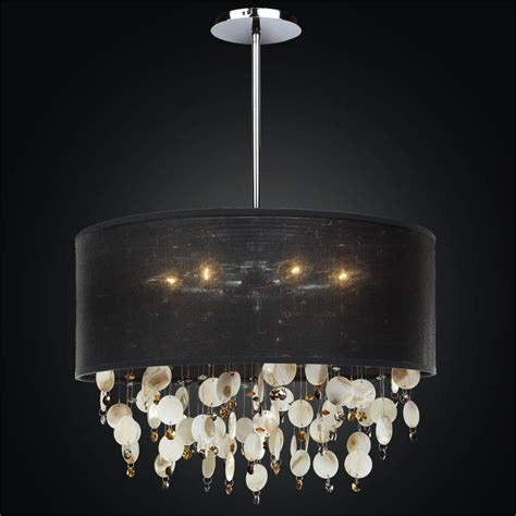 Shell Light Shades Pendant Large Drum Shade Chandelier Oyster Shell Chandelier Glow 174 Lighting