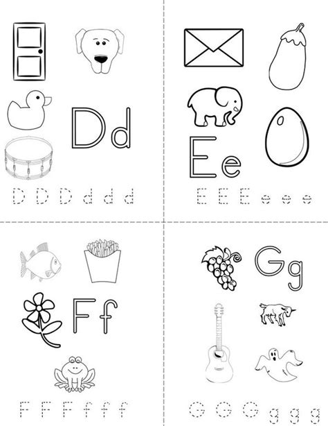 Printable Alphabet Book Template by My Abc Mini Book Sheet 2 Images Frompo