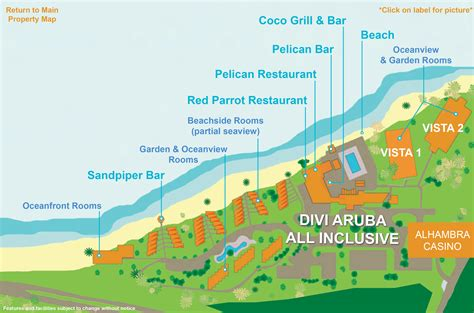 divi aruba and tamarijn aruba divi aruba all inclusive map