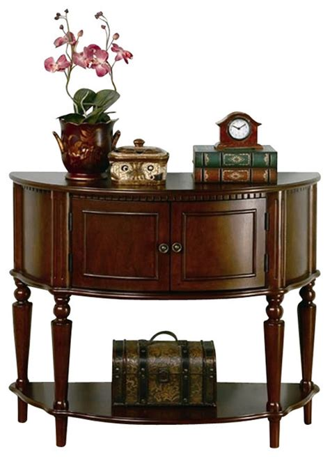 Entrance Console Table Coaster Storage Entryway Console Table In Brown Traditional Console Tables By Homesquare
