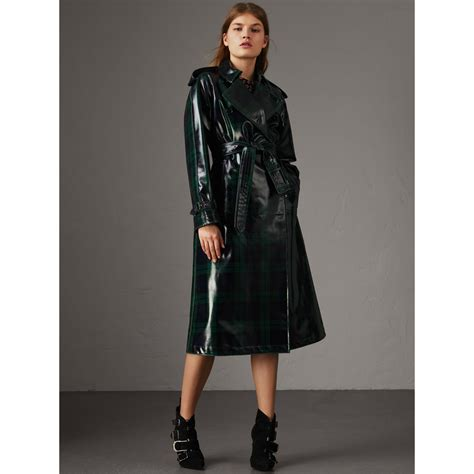 Zaina Burberry Vol 2 By Baenetta burberry laminated tartan wool trench coat navy modesens