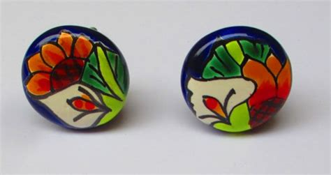 Mexican Drawer Pulls by Items Similar To Mexican Home Decor Painted Door Knobs