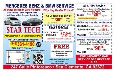 Bmw Service Coupons by Special Offers Tech Motors Bmw And Mercedes