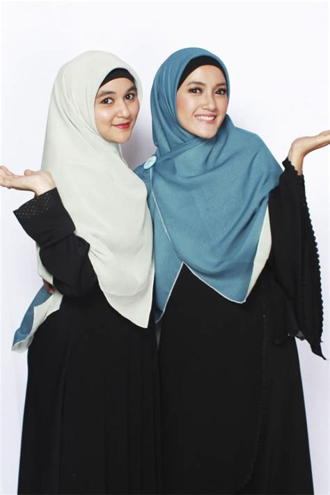 Khimar Broken White by Sella Khimar Bolak Balik Broken White Abu Tosca