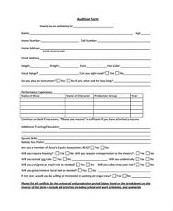 talent show registration form template form template bestsellerbookdb