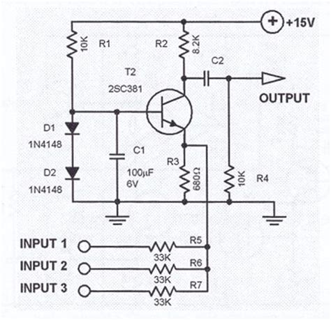 basic bipolar transistor mixer circuit 17 best images about circuitos electronicos on circuit diagram joule thief and