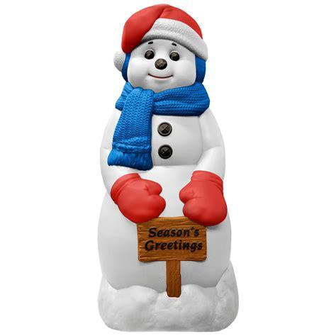 trim a home 174 31 quot outdoor plastic snowman decoration