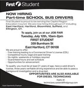 details part time school drivers