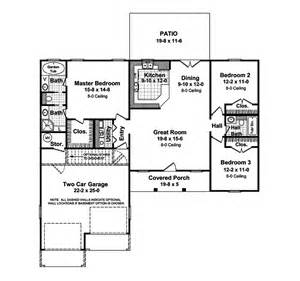 stovall country ranch home plan 077d 0019 house plans