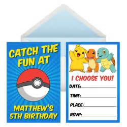 Pokemon go personalized invitations 8 pk party supplies canada