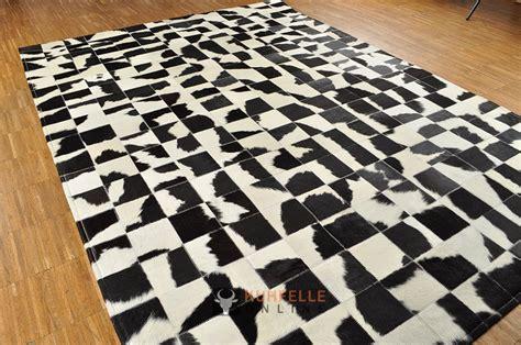 schwarz weiss teppich kuhfell teppich schwarz weiss 200 x 140 cm patchwork