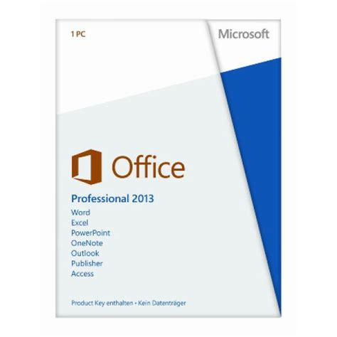 microsoft office professional 2013 ohne datentr 228 ger