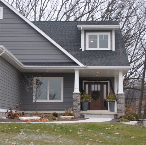 houses with grey siding dark gray siding