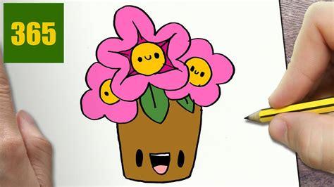 come disegnare fiori come disegnare fiori kawaii passo dopo passo disegni