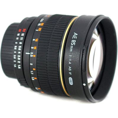 rokinon 85mm f/1.4 aspherical for nikon with focus confirm