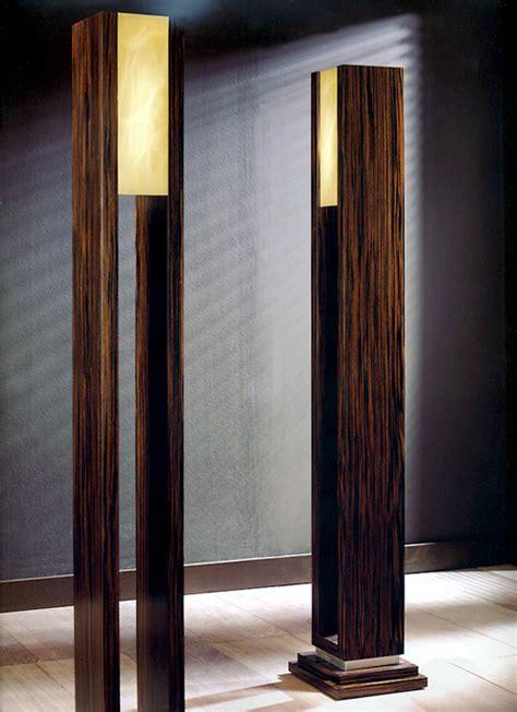 Tl furniture macassar ebony designer floor lamps with alabaster