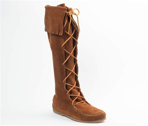front lace knee high boot auggies sheepskin
