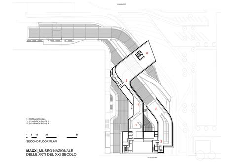 zaha hadid floor plan architecture photography second floor plan 43853