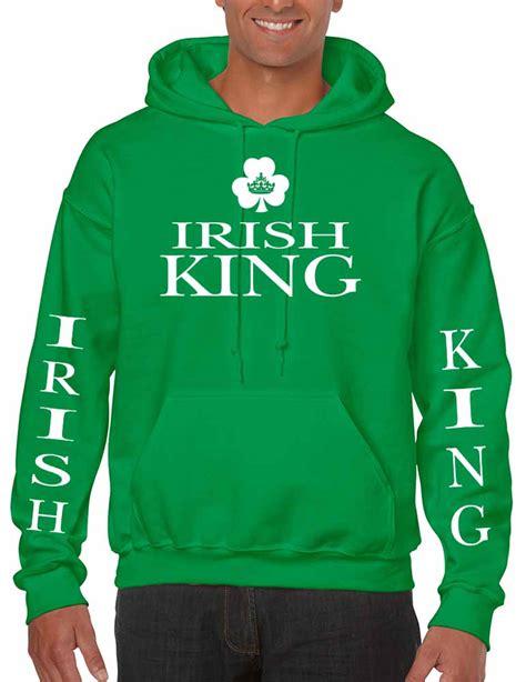 design hoodies ireland men s hoodie sweatshirt irish king st patrick s day