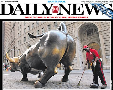 today s today s daily news cover poops all over wall street
