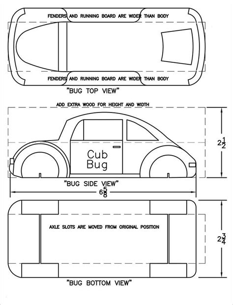 free pinewood derby template pinewood derby