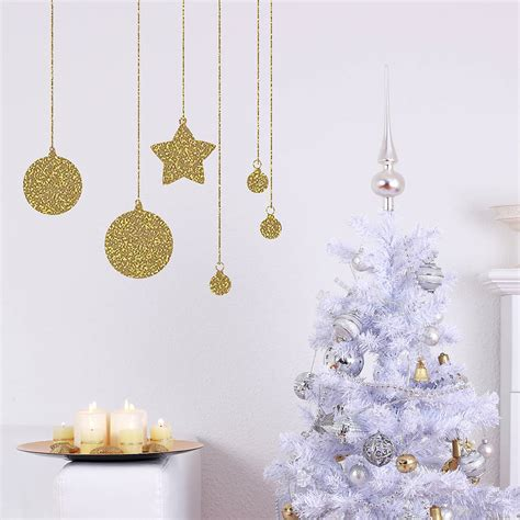 glitter wall sticker glitter baubles wall sticker by nutmeg